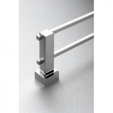 Malta Double Towel Rail Chrome - 600mm