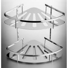 Shower Basket - 2 Tier Corner Stainless Steel
