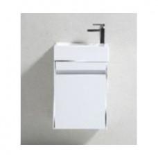 Simplicity 460 Slimline Cupboard & Basin White