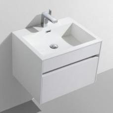 Simplicity 600 Slimline Cupboard & Basin White